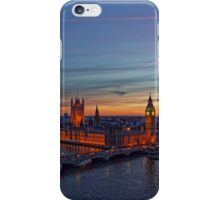 Sunset Over London - A Bird View iPhone Case/Skin