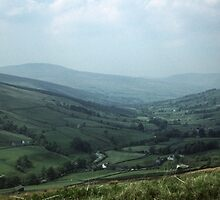 Dales from train Carlisle Settle railway Cumbria England 198405310007  by Fred Mitchell