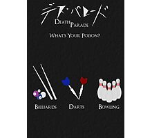 Death Parade Poster Photographic Print