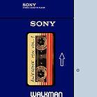 Guardians of the Galaxy Awesome Mix tape vol 1 Sony Walkman by SnarkySharkPup