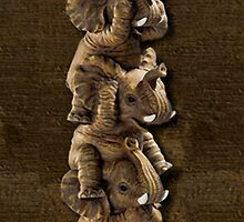 ELEPHANTS...SEE NO EVIL..HEAR NO EVIL,SPEAK NO EVIL IPHONE CASE  by ✿✿ Bonita ✿✿ ђєℓℓσ