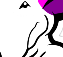 Pink Ears English Bull Terrier Puppy Sticker