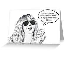 Christine McVie - Limo Words Greeting Card