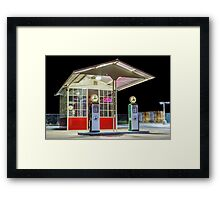 Late Night Gas Station Framed Print