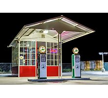 Late Night Gas Station Photographic Print