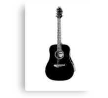 Steel String Accoustic Guitar Canvas Print