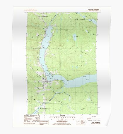 Maine USGS Historical Map Eagle Lake 105085 1985 24000 Poster