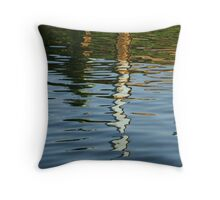 coloured water Throw Pillow