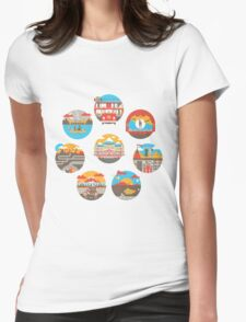 Wes Anderson Films Icon Illustrations Womens Fitted T-Shirt