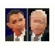 Obama McCain Art Print