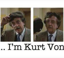 """""""Hello!... I'm Kurt Vonnegut."""" Sticker"""