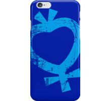 Sailor Mercury grunge symbol iPhone Case/Skin