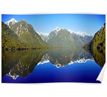 Doubtful Sound Reflections Poster