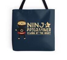 Programmer T-shirt : Ninja programmer. coding at the night Tote Bag