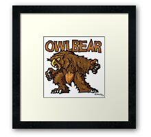 Owlbear Framed Print