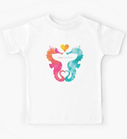 Love Seahorses - Heart Sun Kids Tee