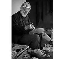Street Cobbler at Work Photographic Print