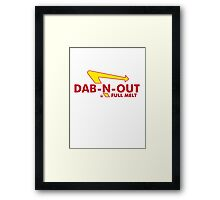 DAB-N-OUT Full Melt Framed Print
