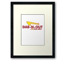 DAB-N-OUT Full Melt Framed Print