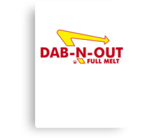 DAB-N-OUT Full Melt Canvas Print