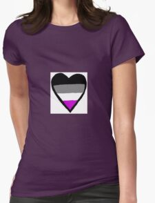 Asexual Heart Womens Fitted T-Shirt