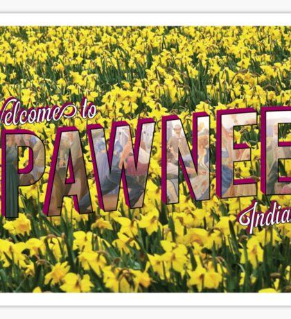 Pawnee Vintage Postcard Sticker