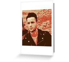Brandon Flowers Popart Greeting Card