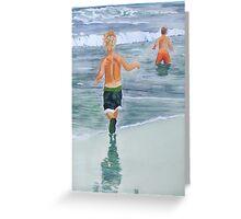 Two beach boys Greeting Card