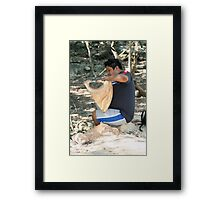 He Loves what he does Framed Print