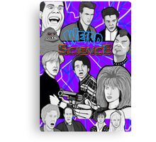 weird science 30th anniversary collage Canvas Print