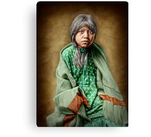 A Taos girl Canvas Print
