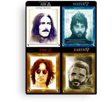 Fab Four Elements in Color Canvas Print