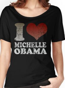 I love Michelle Obama 08 t shirt Women's Relaxed Fit T-Shirt