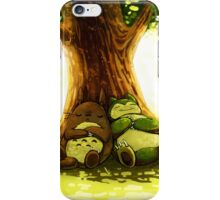 totoro and snorlax iPhone Case/Skin