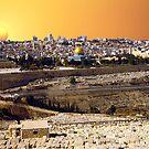 Jerusalem sunset by Moshe Cohen