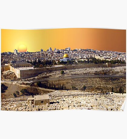 Jerusalem sunset Poster
