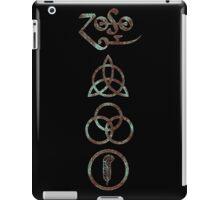 ANCIENT PAGAN ELEMENTS SYMBOLS (V) - aqua/brown grunge iPad Case/Skin