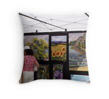 Art Festival Throw Pillow