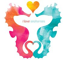 Love Seahorses - Heart Sun by PepomintNarwhal