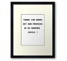 Thank you Mario Framed Print