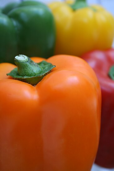 Colourful peppers by monaiman