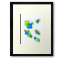 Abstract pixels Framed Print