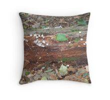 Toadstool Estate Throw Pillow