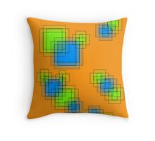 Abstract pixels Throw Pillow
