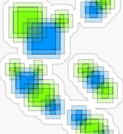 Abstract pixels Sticker