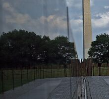 Washington Monument and Vietnam War Memorial by Judson Joyce