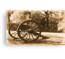 #611    Civil War Cannon Canvas Print