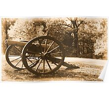 #611    Civil War Cannon Poster