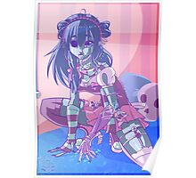 Pastel goth Zombie Poster