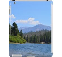 Beautiful landscape photography.. Lake, mountain and blue sky. iPad Case/Skin